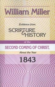 Cover of: Evidence From Scripture & History | William Miller