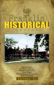 Cover of: Franklin Historical Review Volume 41--2006 | Franklin County Historical & Museum Society
