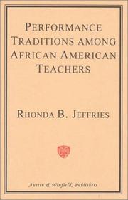 Cover of: Performance Traditions Among African-American Teachers