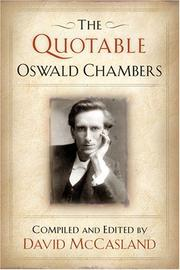 Cover of: The quotable Oswald Chambers