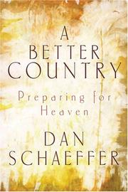 Cover of: A Better Country