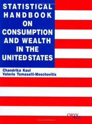Cover of: Statistical Handbook on Consumption and Wealth in the United States |
