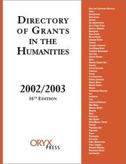 Cover of: Directory of Grants in the Humanities, 2002/2003 | [Grants Program]