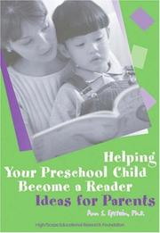 Cover of: Helping Your Preschool Child Become a Reader