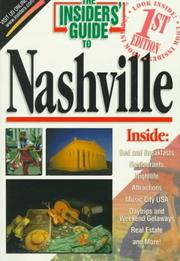 Cover of: The Insiders' Guide to Nashville | Jeff Walter, Cindy Guier, Jeff Walter , Cindy Stooksbury Guier