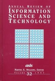 Cover of: Annual Review Of Information Science And Technology, Volume 32