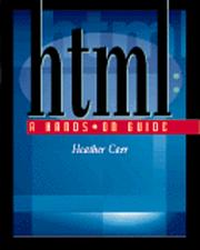 Cover of: HTML
