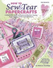 Cover of: Sew & Tear Papercrafts (Leisure Arts #3792)