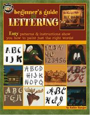 Cover of: Beginner's Guide to Lettering (Leisure Arts #22535)