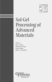 Cover of: Sol-Gel Processing of Advanced Materials (Ceramic Transactions, Vol. 81) (Ceramic Transactions)