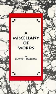 Cover of: A Miscellany Of Words
