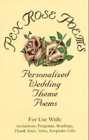 Cover of: Personalized Wedding Theme Poems