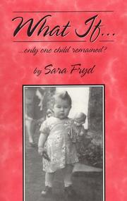 Cover of: What If... only one child remained?