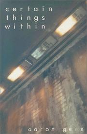 Cover of: Certain Things Within