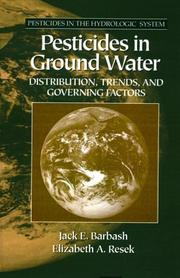 Cover of: Pesticides in ground water