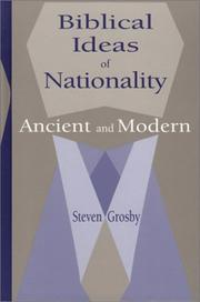 Cover of: Biblical Ideas of Nationality