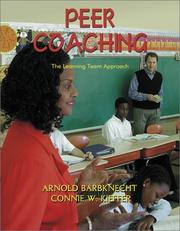 Cover of: Peer Coaching