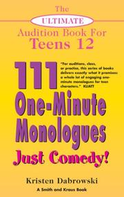 Cover of: The Ultimate Audition Book for Teens Volume XII | Kristen Dabrowski