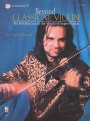 Cover of: Beyond Classical Violin