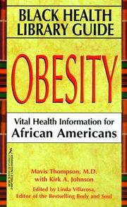 Cover of: Black Health Library Guide: Obesity: Obesity  | Kensington