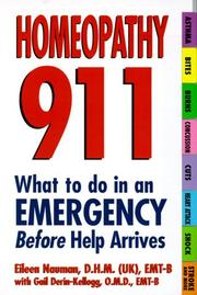 Cover of: Homeopathy 911: What To Do In An Emergency Before Help Arrives