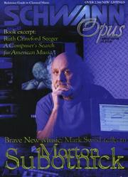 Cover of: Schwann Opus (Winter 1997)