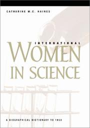 Cover of: International Women in Science: A Biographical Dictionary to 1950
