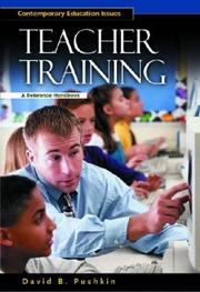 Cover of: Teacher Training