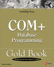 Cover of: COM+ Database Programming Gold Book