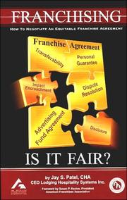 Cover of: Franchising