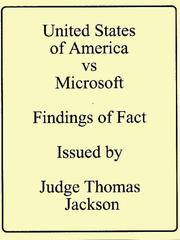 Cover of: Microsoft - Findings of Fact