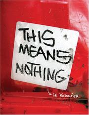 Cover of: This Means Nothing