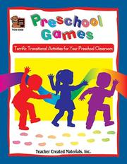 Cover of: Preschool Games