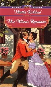 Cover of: Miss Wilson's reputation