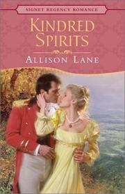 Cover of: Kindred spirits | Allison Lane