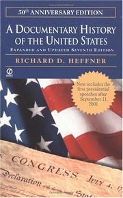 Cover of: A documentary history of the United States