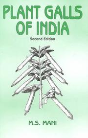 Plant Galls of India by M. S. Mani
