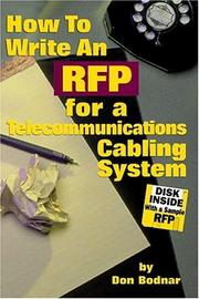 Cover of: How to Write an RFP for A Telecommunications Cabling System