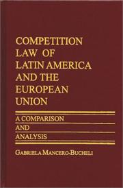 Cover of: Competition Law of Latin America and The European Union