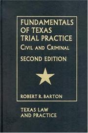 Cover of: Fundamentals of Texas Trial Practice