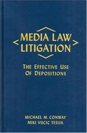 Cover of: Media Law Litigation