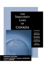 Cover of: The Insolvency Laws of Canada