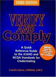 Cover of: Verify and Comply