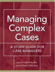 Cover of: Managing Complex Cases | June Stark
