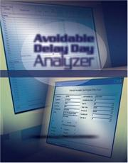 Cover of: Avoidable Delay Day Analyzer