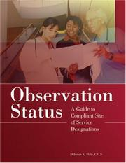 Cover of: Observation Status