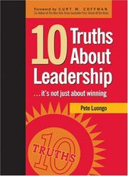 Cover of: 10 Truths About Leadership