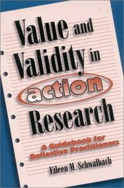 Cover of: Value and validity in action research