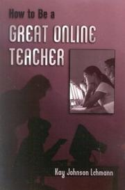Cover of: How to be a Great Online Teacher