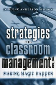Cover of: Strategies for Classroom Management K-6